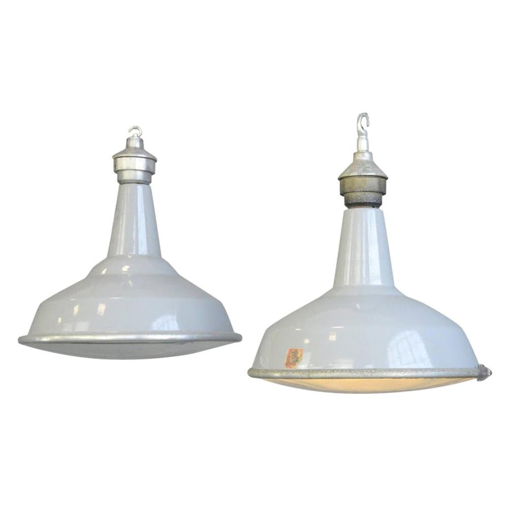 Large Saw Mill Lights by Benjamin, circa 1950s