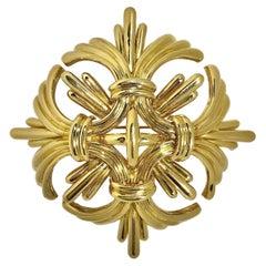 Large Scale 18K Gold Tiffany & Co. Maltese Cross Pendant