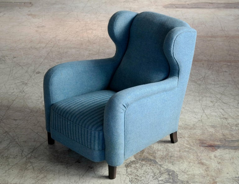 Large Scale 1940s Lounge Chair in the Style of Carl-Johan Boman 4