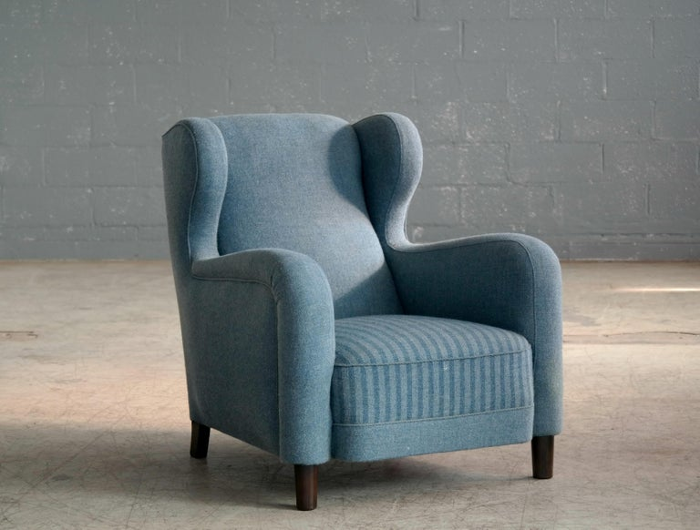 Mid-20th Century Large Scale 1940s Lounge Chair in the Style of Carl-Johan Boman