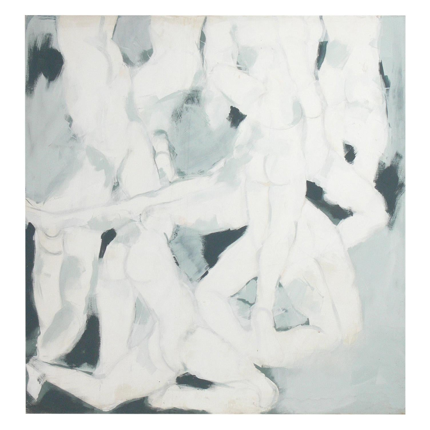 Large Scale 1960s Abstract Nudes Painting