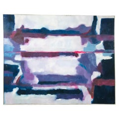 Large Scale 1980s Abstract Painting
