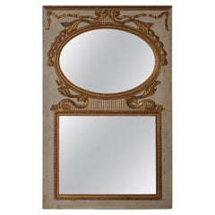 Large Scale 19th Century Carved Gilded & Gesso Framed Mirror, circa 1890s