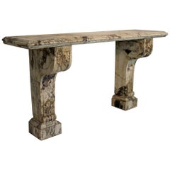 Large Scale 19th Century Country House Marble Console Table