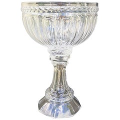 Large Scale 19th Century Glass Compote Centerpiece