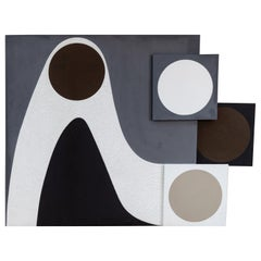 Large Scale Abstract Geometric Painting by Andy Nelson