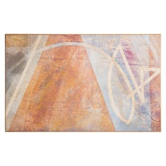 Large Scale Abstract Painting by Clinton Hill, 1980
