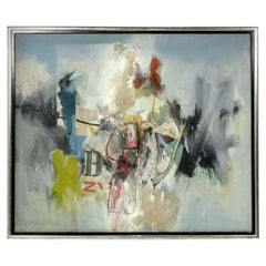 Large Scale Abstract Painting by Gerard Leonard van den Eerenbeemt