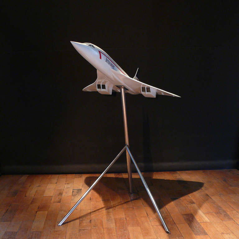 Modern Large Scale Aircraft Model of British Airways Concorde, circa 1990 For Sale
