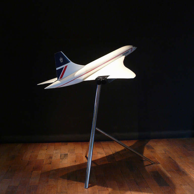 20th Century Large Scale Aircraft Model of British Airways Concorde, circa 1990 For Sale