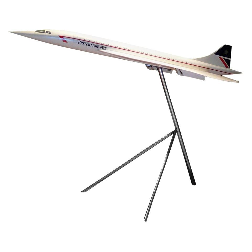 Large Scale Aircraft Model of British Airways Concorde, circa 1990