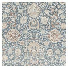 Large Scale All-Over Design Light Blue Persian Kerman Carpet