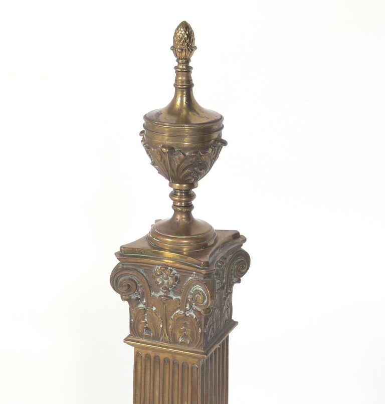 Large Scale Andirons By Dorothy Draper For The Greenbrier