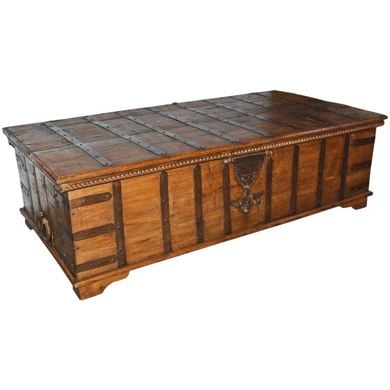 Large Scale Anglo Indian Trunk Coffee Table