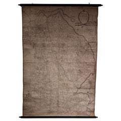 Large Scale Antique Scroll Map of Lincolnshire, England, Dated 1778