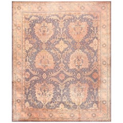 Large Scale Antique Turkish Oushak Rug. Size: 12 ft 3 in x 14 ft 6 in