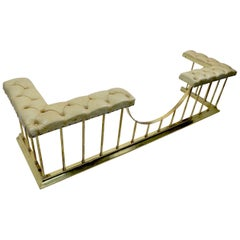 Large Scale Bench Club Fender in Brass and Leather