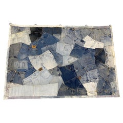 "Large Scale ""Blue Jeans"" Tapestry"