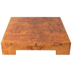 Large Scale Burl Coffee Table by Milo Baughman
