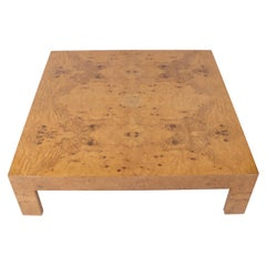 Large Scale Burl Wood Coffee Table by Milo Baughman