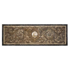 Large Scale Continental 18th Century Silk Embrodered Wall Panel