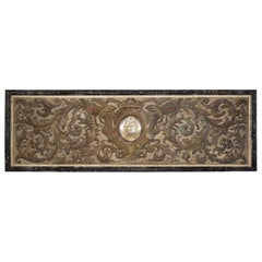 Large Scale Continental 18th Century Silk Embroidered Wall Panel