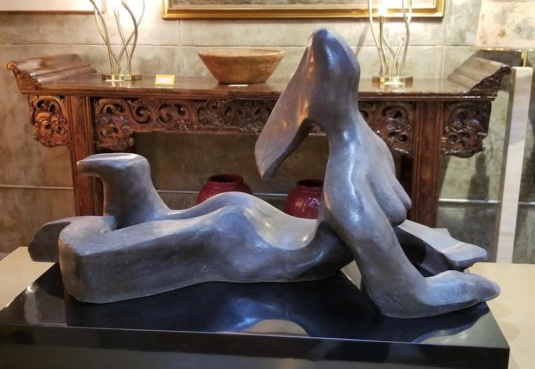 Large Scale Cubist Bronze Nude Sculpture For Sale 8