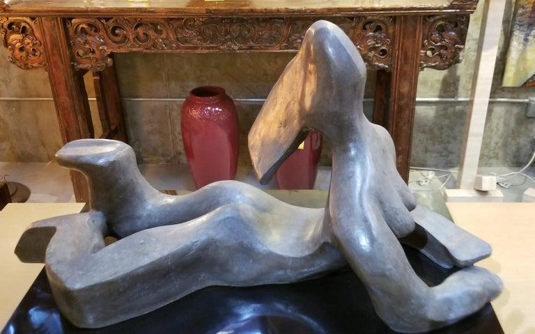 Large Scale Cubist Bronze Nude Sculpture For Sale 9