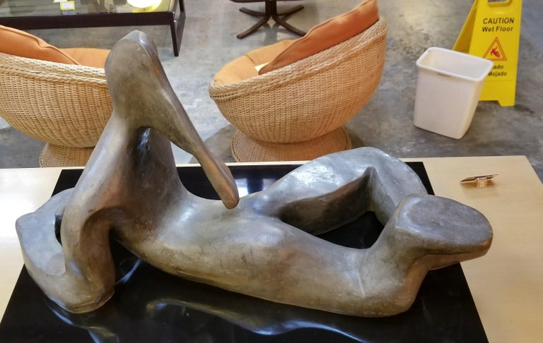 Large Scale Cubist Bronze Nude Sculpture In Good Condition For Sale In Fulton, CA