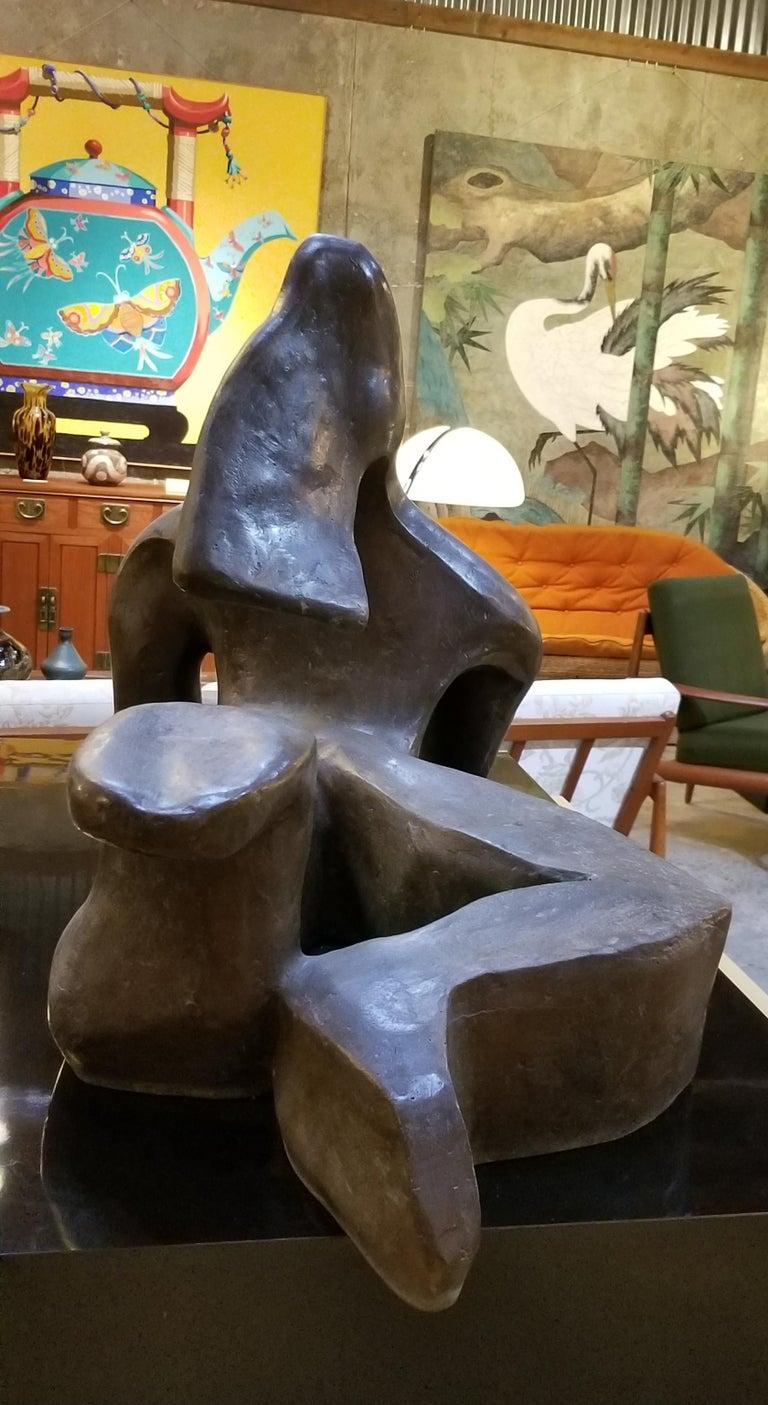Large Scale Cubist Bronze Nude Sculpture For Sale 1