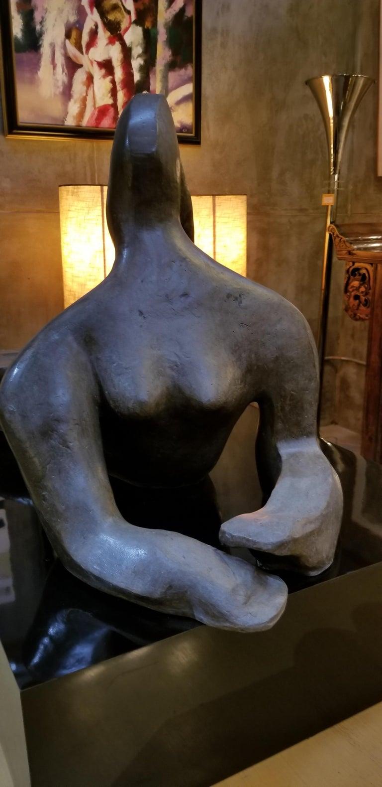Large Scale Cubist Bronze Nude Sculpture For Sale 2
