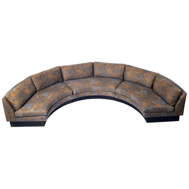 Large Scale Curved Sofa by Irwin Lambeth For Sale