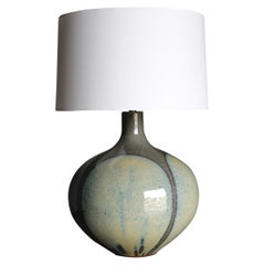 "Large Scale David Cressey ""Flame Glaze"" Ceramic Lamp, circa 1970"