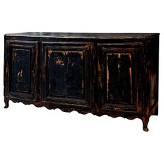 Large Scale Enfilade Painted in Black and Dark Blue