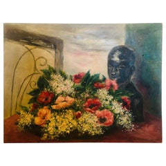 Large Scale Floral Still Life Painting by Peggy Dodds