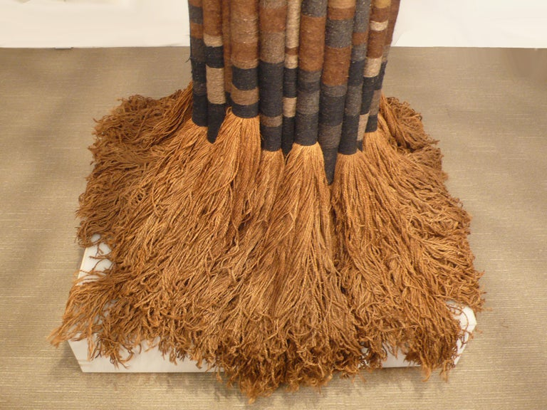 Large Scale Freestanding Fiber Art Sculpture by Jane Knight Titled 'the Tree' For Sale 1