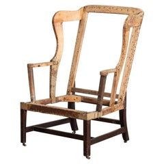 Large Scale George II Mahogany Wingback Armchair