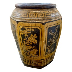 Large Scale Glazed Oriental Urn