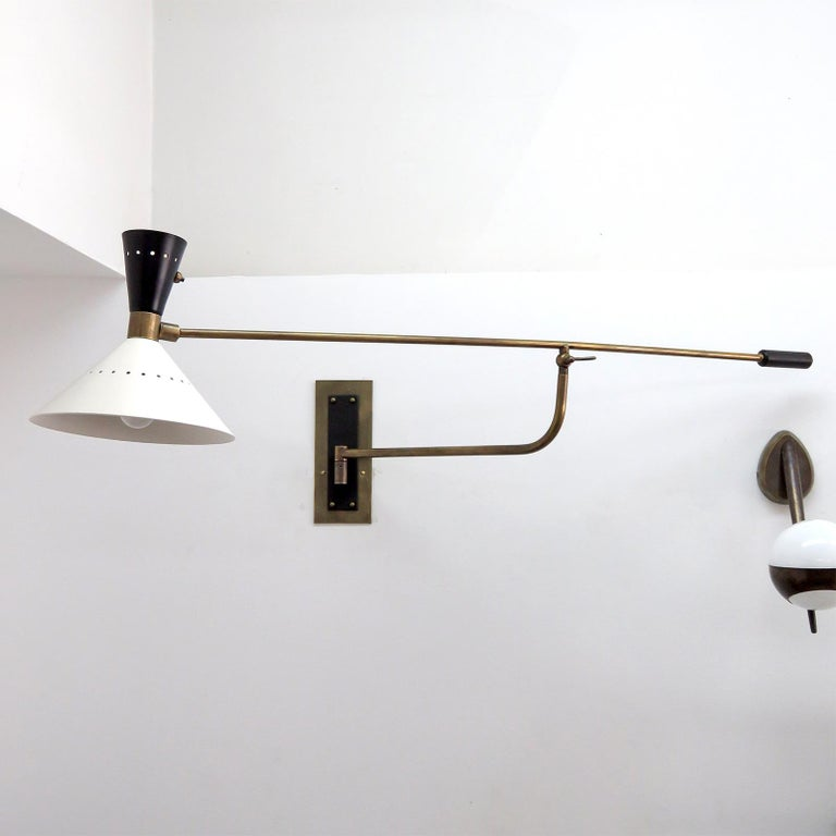 Mid-Century Modern Large Scale Italian Swing Wall Light