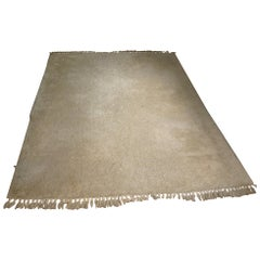Large Scale Ivory Color Wool Rug
