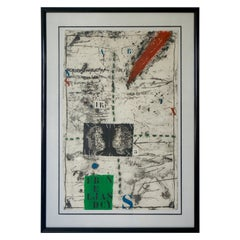 James Coignard French Artist Large Scale Mixed Media Etching Proof