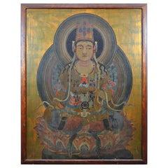 Large Scale Medicine Buddha Painting Ausadhi Badhai