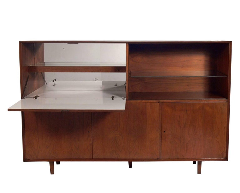 Large Scale Midcentury Bar Cabinet Or Credenza At 1stdibs