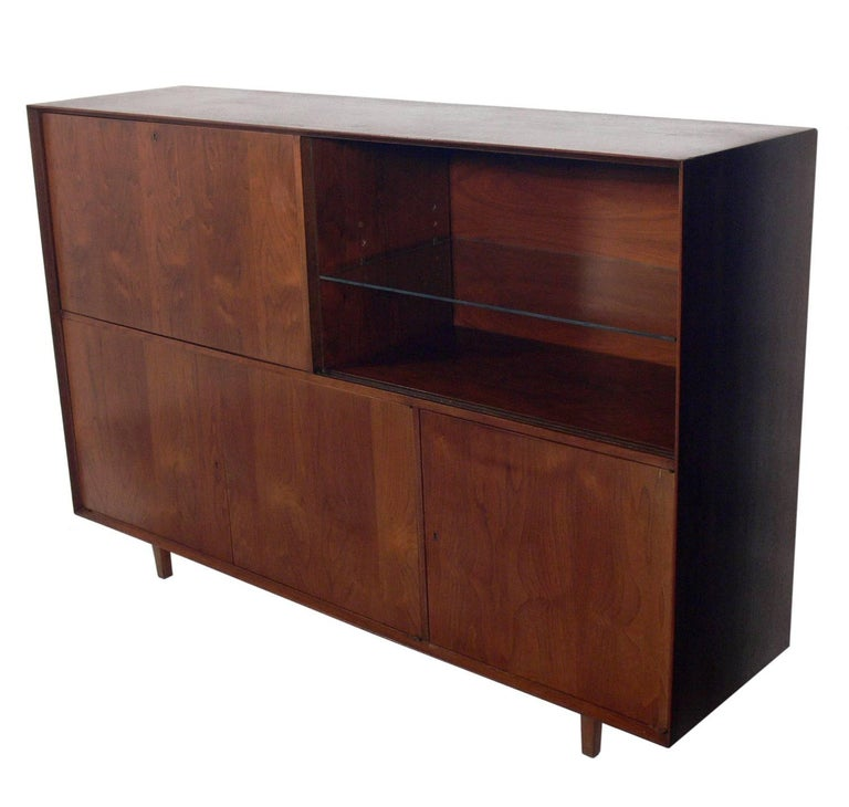 Mid Century Modern Large Scale Midcentury Bar Cabinet Or Credenza For