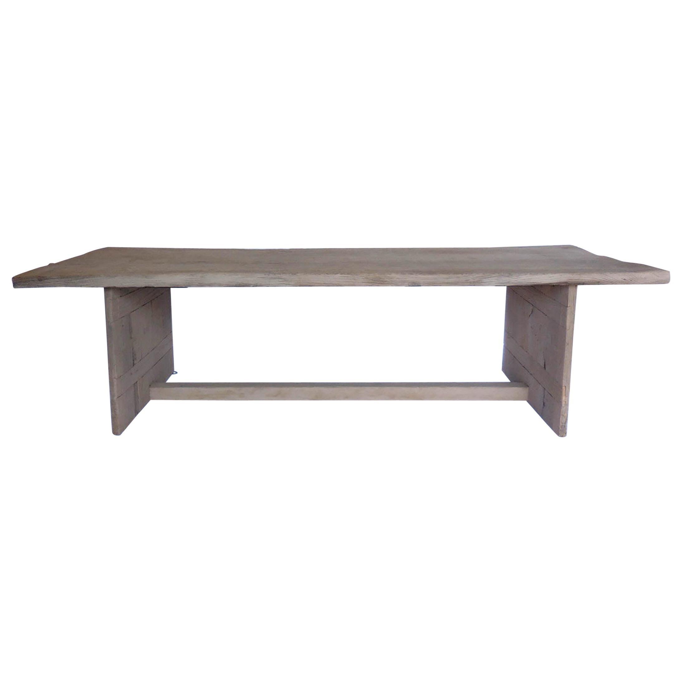 Large Scale Modern Organic Japanese Elm Table