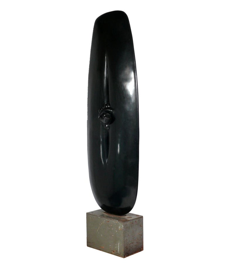 Large scale modern sculpture, purchased from the David Heath Gallery, Atlanta, Georgia, circa 1960s. We have been unable to identify the artist who made this work. It appears to be constructed of fiberglass or resin on a painted plywood base with