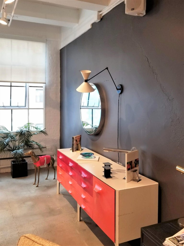 Polished Large Scale 'Monarch' Articulated Wall Mount Lamp in Bronze, Blueprint Lighting For Sale