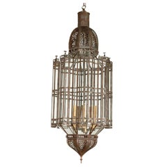 Large Scale Moroccan Alhambra Pendant Chandelier, Clear Glass