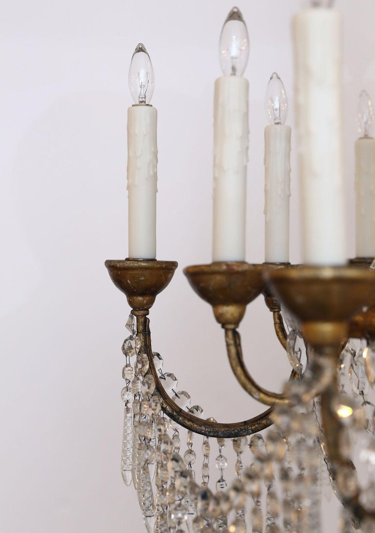 Italian Large-Scale Neoclassical Chandelier For Sale