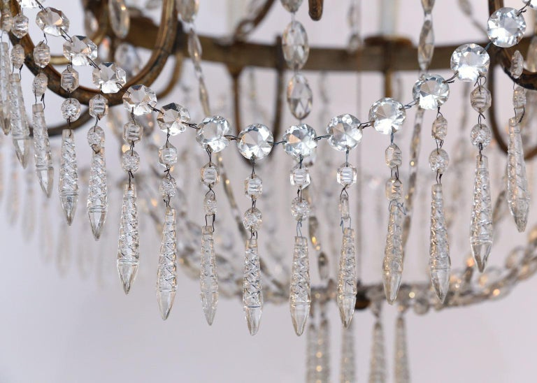 Turned Large-Scale Neoclassical Chandelier For Sale